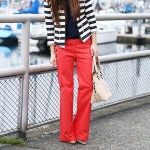Ann Taylor Marisa Fit Red Sailor Pants - NWT - 12